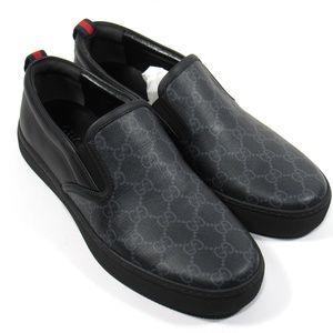 GUCCI Mens GG Supreme Slip-on Sneaker Black Size 8